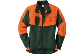 Куртка для лесорубов ECONOMY PLUS, зелёная - Привлекательная модель для непрофессионалов, Костюм для работы в лесу ECONOMY PLUS