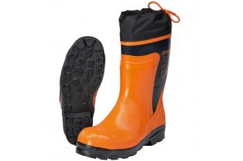 Резиновые сапоги ECONOMY для работы с бензопилой - со шнуровкой голенища и светоотражающими полосами, Рабочая обувь