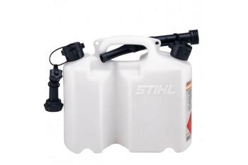 Комбинированная канистра «Стандарт», белая  - для топливной смеси и цепного масла, Канистры и системы заправки