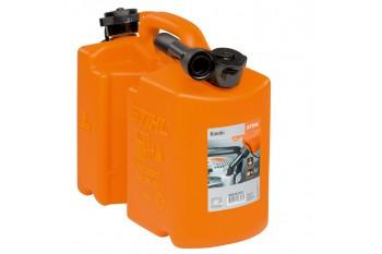 Комбинированная канистра, «Стандарт», оранжевая - для паливної суміші та ланцюгового мастила, Канистры и системы заправки