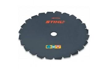 Диск с долотообразными зубьями STIHL Ø 225 мм - 24 зуба для FS 260 - FS 560, Металлические режущие ножи